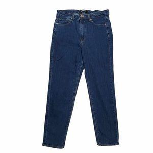 Express Mom Jeans Super High Rise Dark Wash 10 R